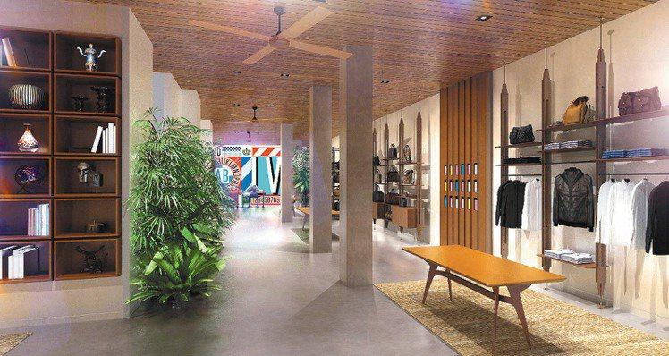 LV於巴黎蒙田大道開設旅行限時店。圖/LV提供