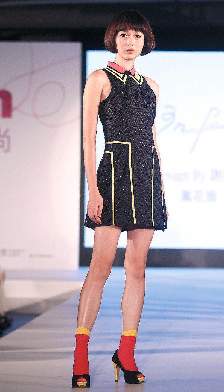 松山文創園區昨天化身時尚舞台,由伊林模特兒和藝人溫昇豪,公開發表台北新銳和潛力設...