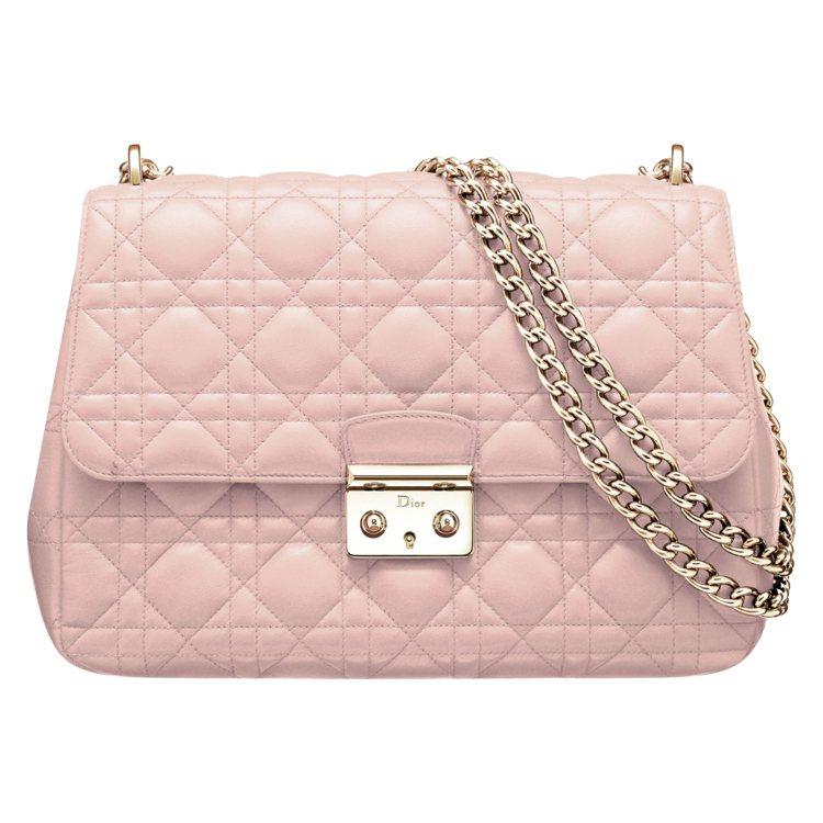 Miss Dior 粉色雙鍊包款NT$105,000。圖/Dior提供