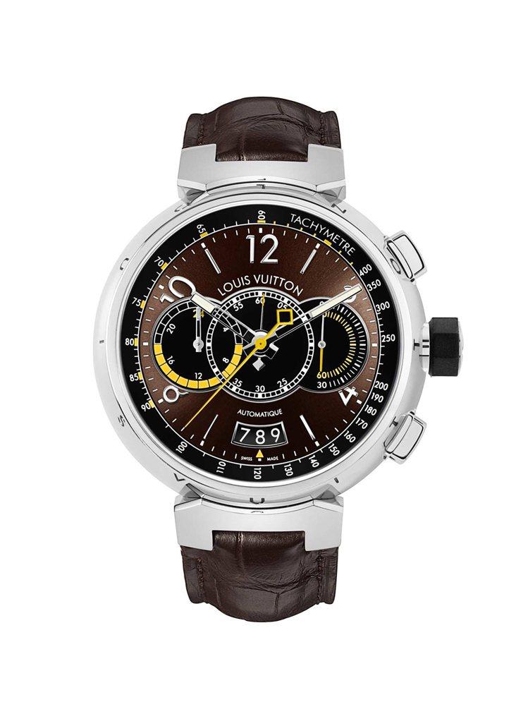 LV Tambour Voyagez Brown watch腕表,28萬3,00...