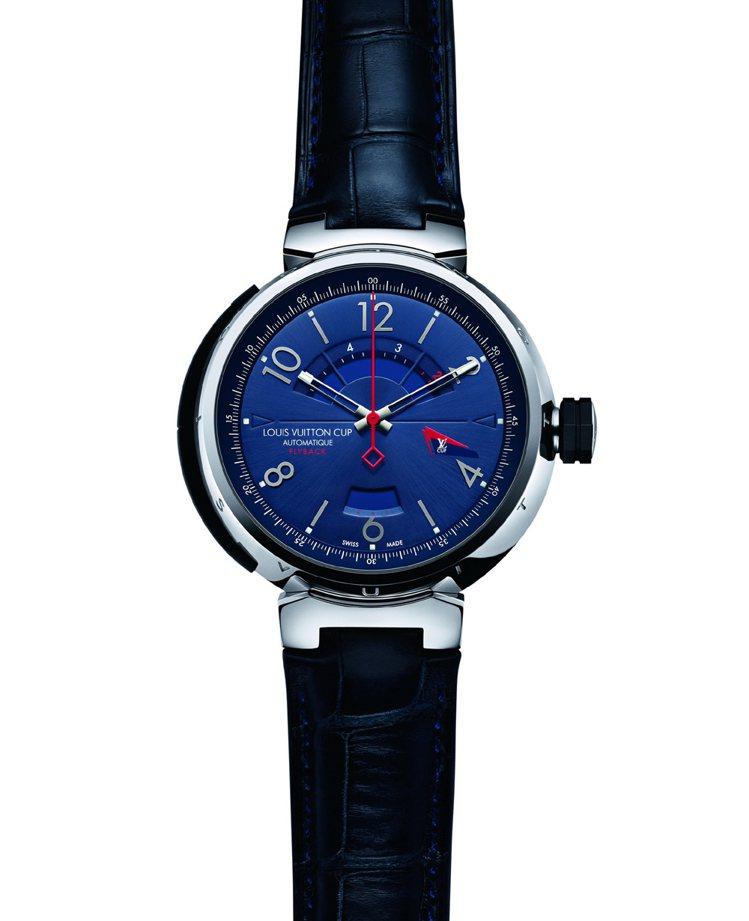LV Cup系列自動上鍊倒數計時腕表,38萬1,000元。圖/LV提供