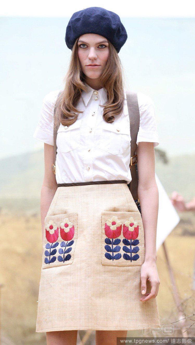 Orla Kiely則是一位出遊的英倫少女,甜美風格為基底,戴上圓弧帽子的女孩,...