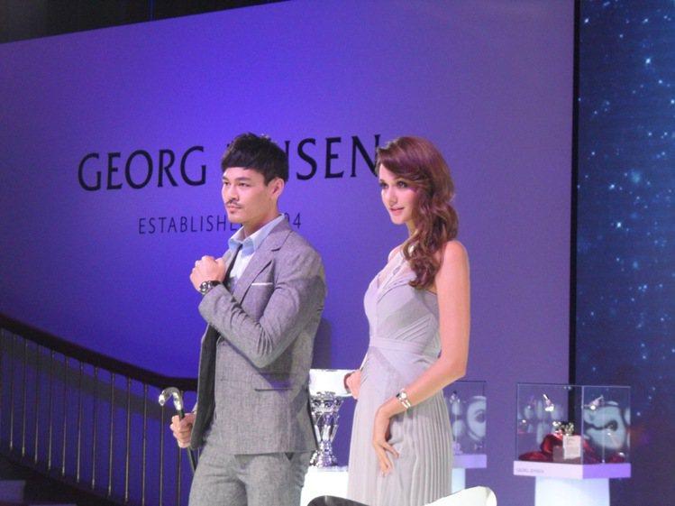 GEORG JENSEN 2013 秋冬新品發表會,名模瑞莎與男模一同展示奢華珠...