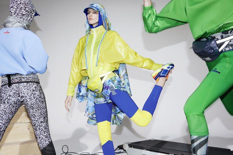 adidas by Stella McCartney早秋系列就大玩螢光、豹紋元素...