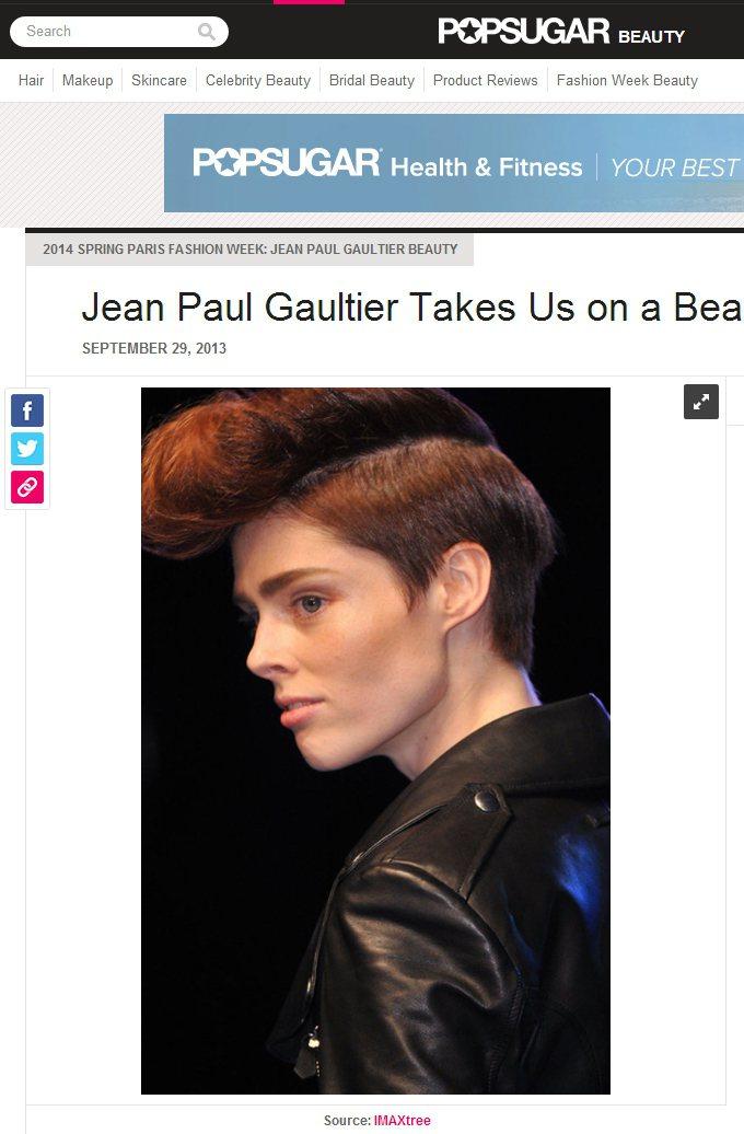 Jean Paul Gaultier 2014春夏系列,超模Coco Rocha...