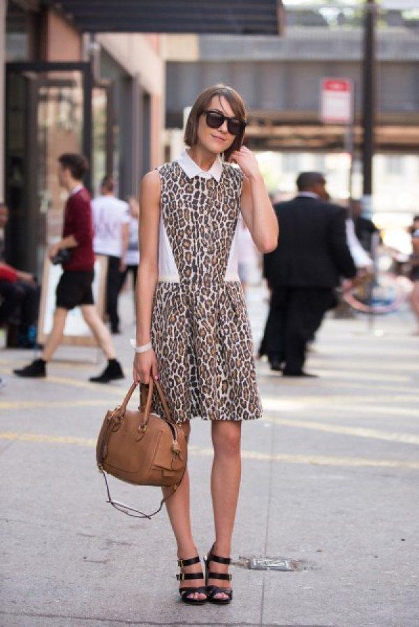豹紋也可以穿得很溫柔、有氣質。圖/she.com Taiwan提供