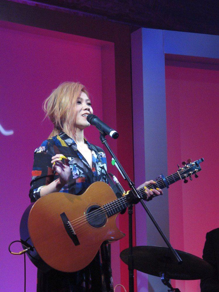 金曲歌后蔡健雅壓軸帶來一場精彩的小型演唱會。記者吳曉涵/攝影