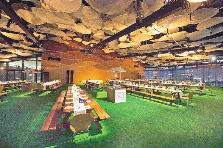 誠品松菸的宴會廳,首度開放給愛馬仕使用。圖/HERMES提供