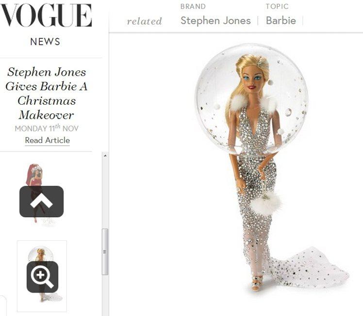 Snow Globe Barbie。圖/擷取自vogue.co.uk