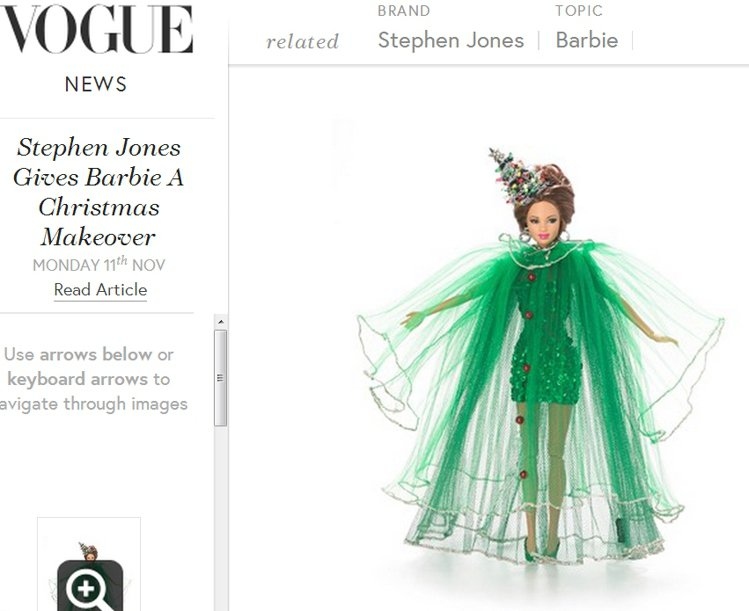 Christmas Tree Barbie。圖/擷取自vogue.co.uk