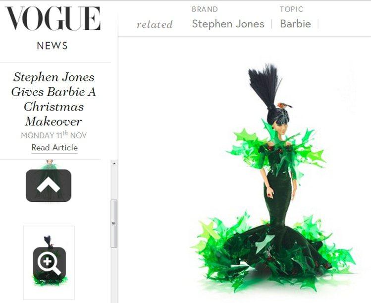 Holly Surprise Barbie。圖/擷取自vogue.co.uk