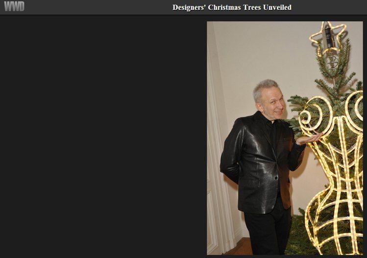 Jean Paul Gaultier 把耶誕樹打造成一座穿緊身衣的性感尤物。圖/...