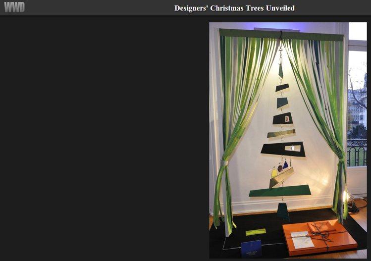 Hermès Petit h 的耶誕樹充滿當代藝術風。圖/擷取自wwd.com