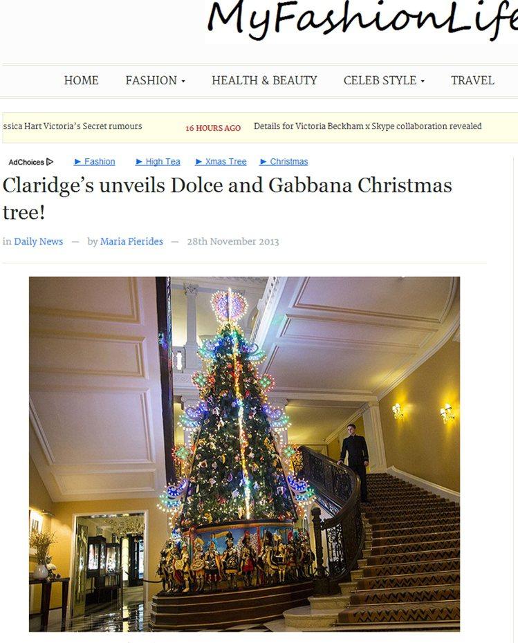 愛玩復古華麗的 DOLCE & GABBANA 連耶誕樹也不放過,放了許多異國風...