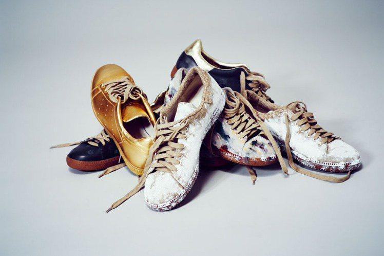 LAURENCE DOLIGE 秋冬除了推出紅色系服裝之外,金色球鞋也能讓你在耶...