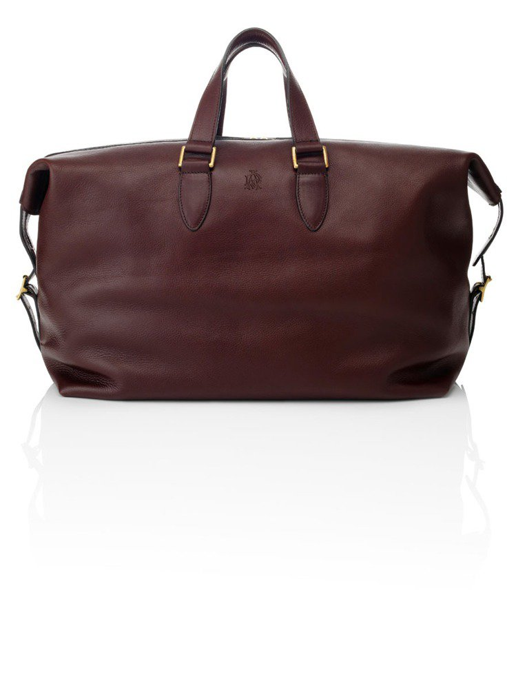 Sherborne紅棕色手提袋。圖/Alfred Dunhill提供