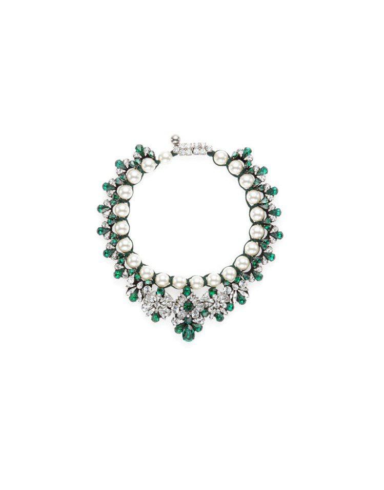 Shourouk 綠色珍珠寶石項鍊。圖/CLUB DESIGNER提供