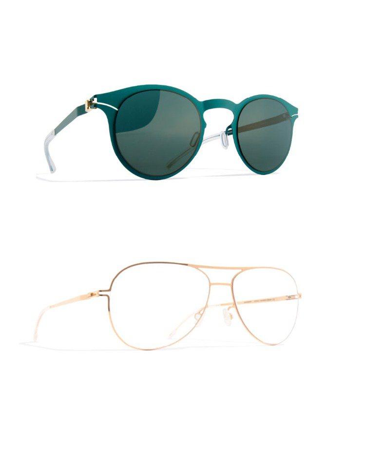 德國眼鏡品牌 MYKITA 也推出紅、綠、金色鏡款,墨鏡與光學眼鏡都用飽合的色調...