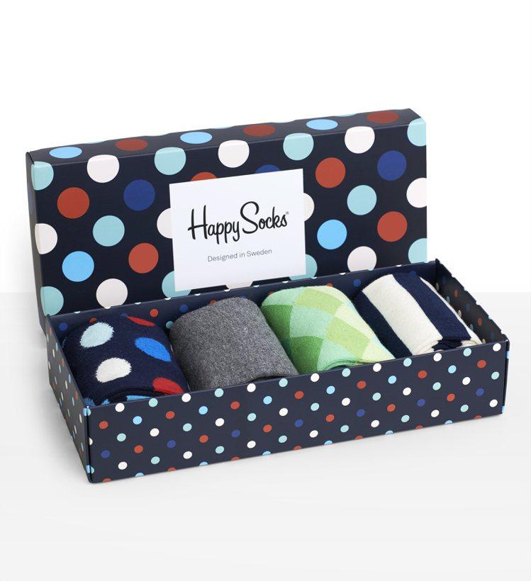 Happy Socks 耶誕限定組(男)NT 1,480。圖/Happy Soc...