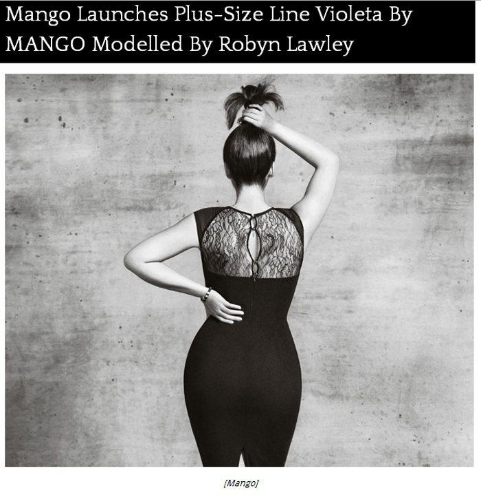 西班牙品牌 Mango 宣布要展開大尺碼線服裝 Violeta by Mango...