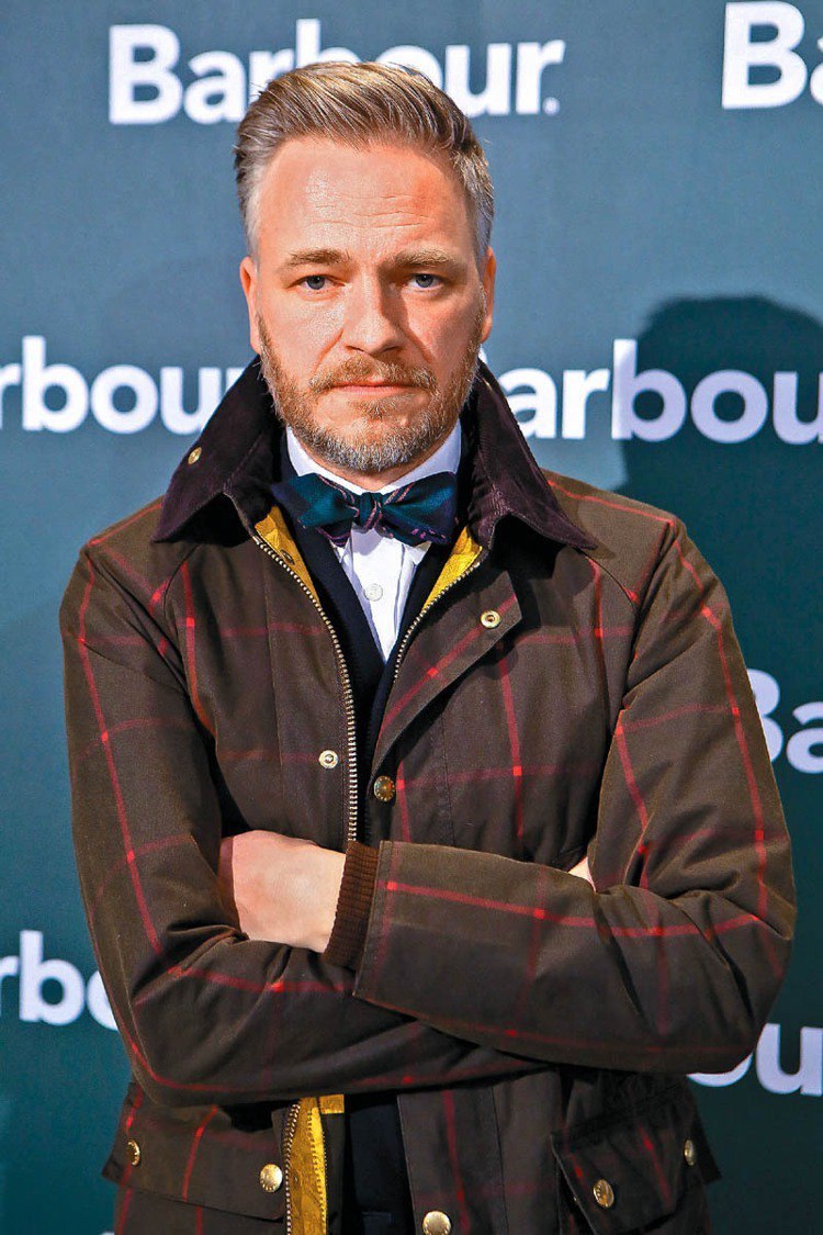 Barbour國際品牌總監Simon Harris帥氣有型。圖/Barbour提...
