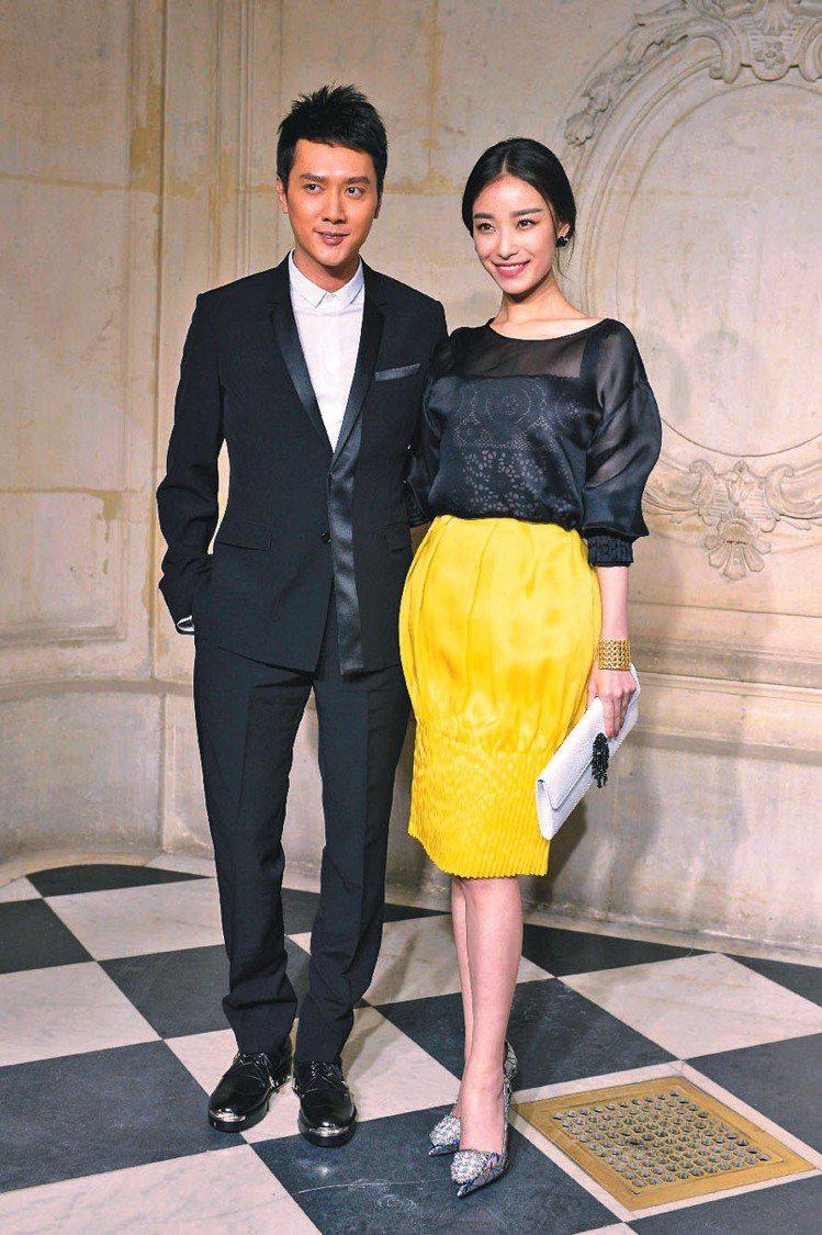 馮紹峰和倪妮情侶檔等人出席Dior高級訂製服秀。圖/美聯社