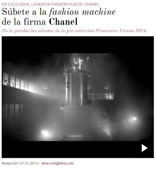 老佛爺這次在廣告裡端出一座印有 Chanel 雙 C logo 的「時尚」機器。...
