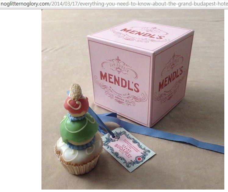 劇中曼德蛋糕店(Mendl's)的蛋糕精緻又搶鏡。圖/擷取自noglittern...