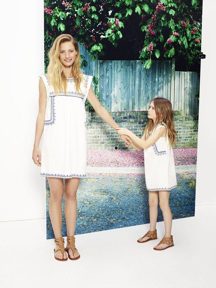 「MINI-ME 迷妳」女童裝系列與女裝一樣,充滿摩登、休閒塗鴉與民族風氣息。圖...
