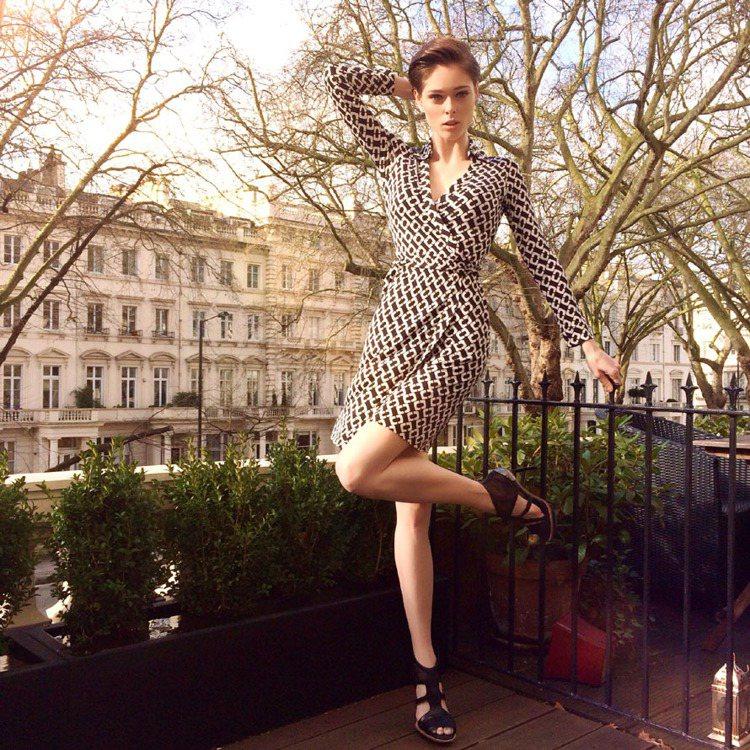 DVF裹衣裙邁入40周年,由名模Coco Rocha開啟衣之旅活動。圖/DVF提...