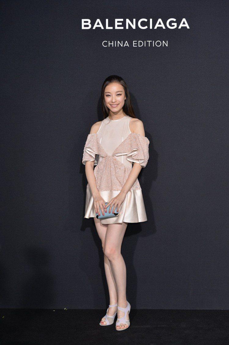 中國女星倪妮出席Balenciaga China Edition活動。圖/Bal...