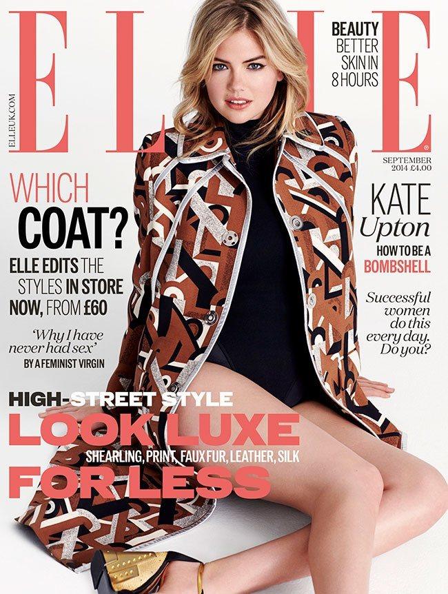 身材健美的凱特阿普頓,穿PRADA新裝登上英國ELLE封面。圖/摘自ELLE官網
