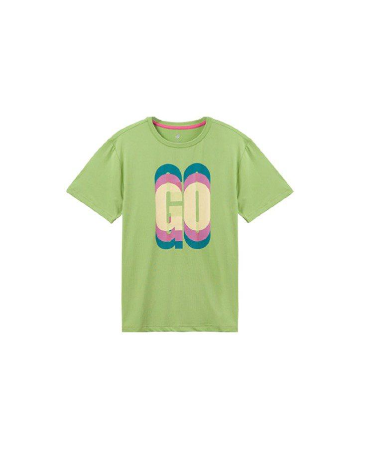 機能涼感印花短T恤,定價1380元。圖/GoHiking提供