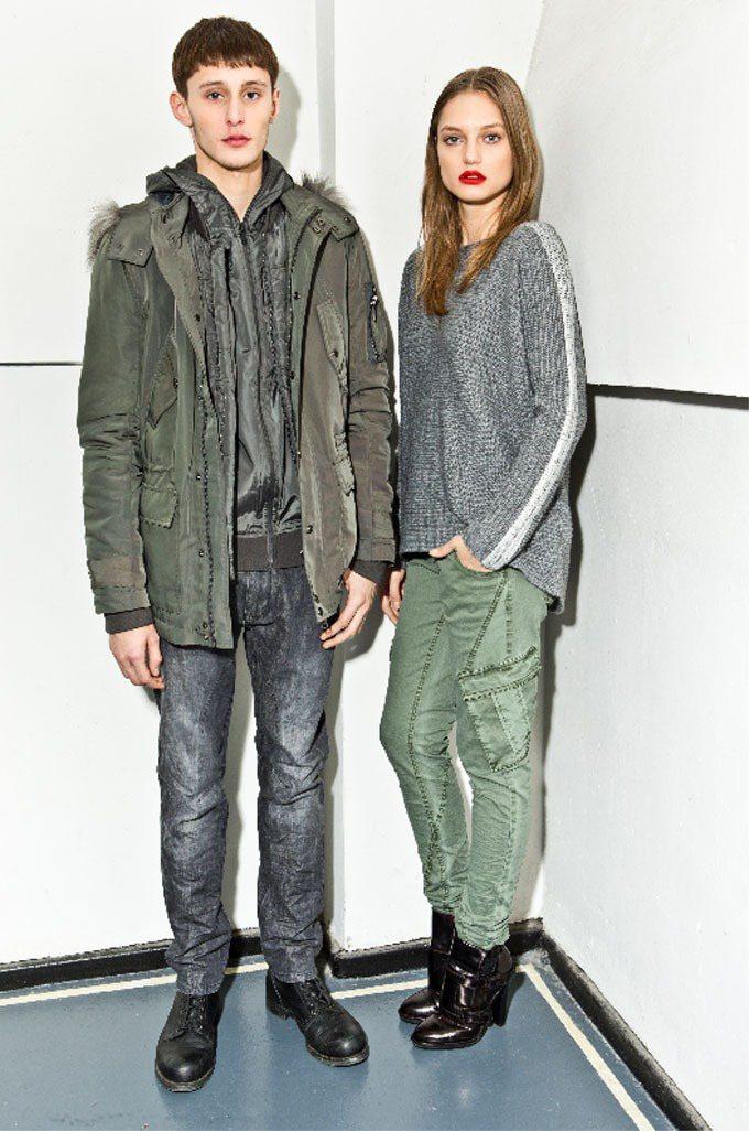 DKNY JEANS秋冬設計呼應當代的浪漫搖滾。圖/DKNY JEANS提供