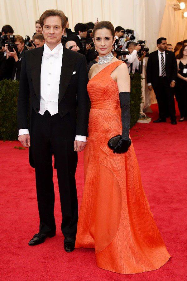 和妻子倡議綠色時尚的演技派男星柯林佛斯,獲頒最佳時尚領袖的榮譽。圖/蕭邦提供