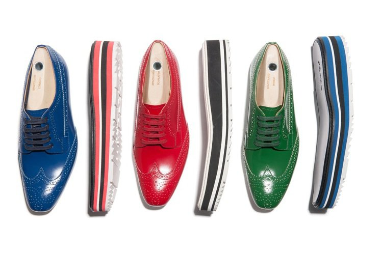 PRADA訂製牛津厚底鞋,即起在台北微風店登場氣。圖/PRADA提供