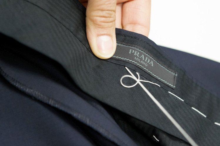 PRADA訂製西裝可依個人喜愛選擇布料和款式。圖/PRADA提供