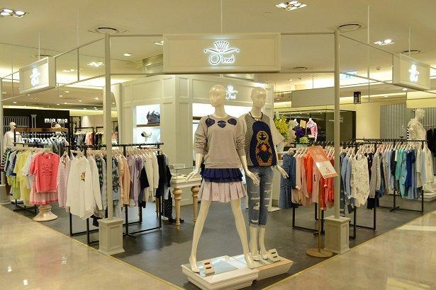韓系時尚品牌「O'2nd」櫃位一景。圖/滿心提供