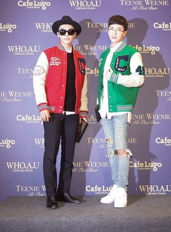 Super Junior 東海和利特來台出席韓系「衣戀」集團造勢活動。圖/ELA...