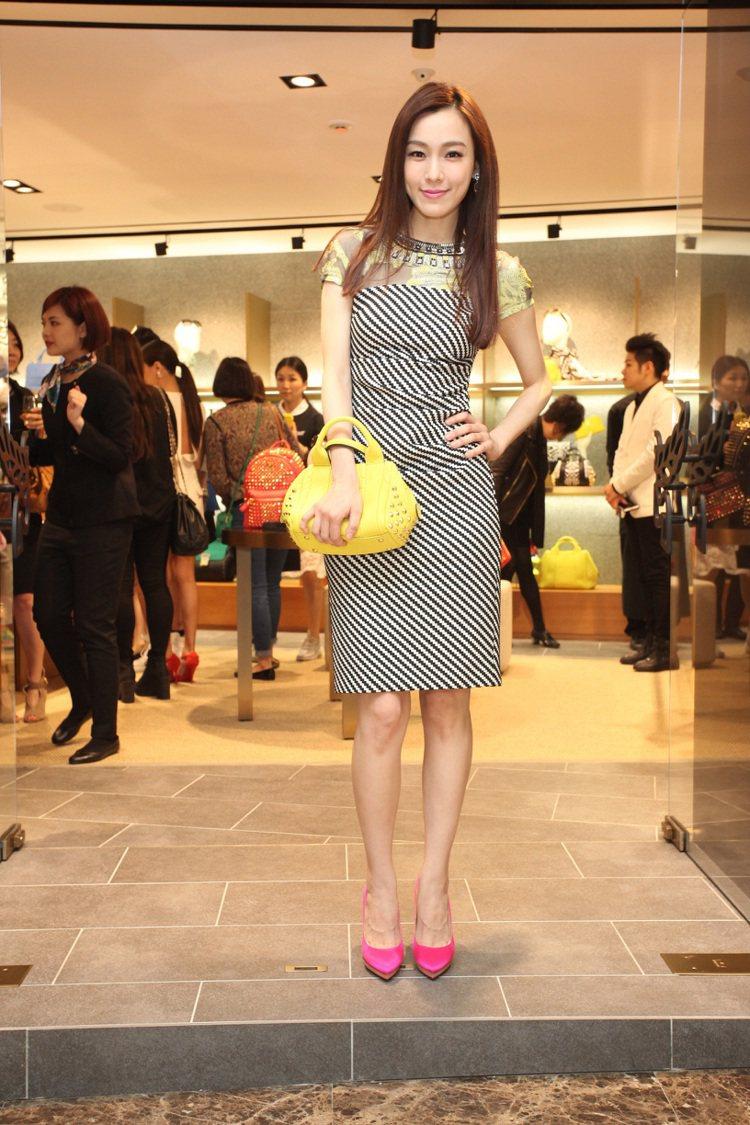 范瑋琪出席MCM台灣首店的開幕活動。圖/MCM提供