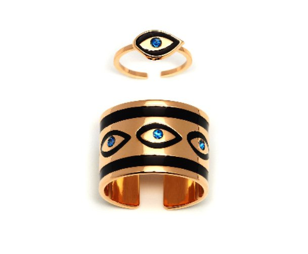 MFP神秘眼雙戒組,售價8400元。圖/團團精品提供