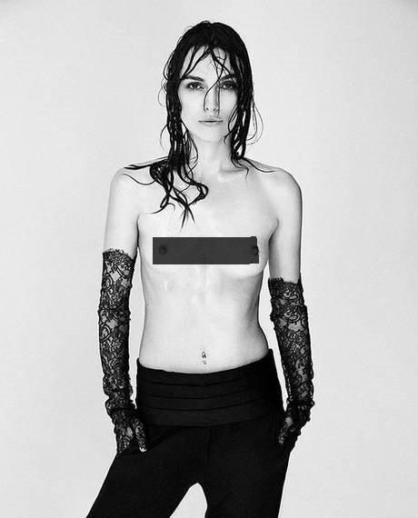 綺拉奈特莉在接受Interview雜誌專訪時,公開支持「解放乳頭」。圖/擷自in...