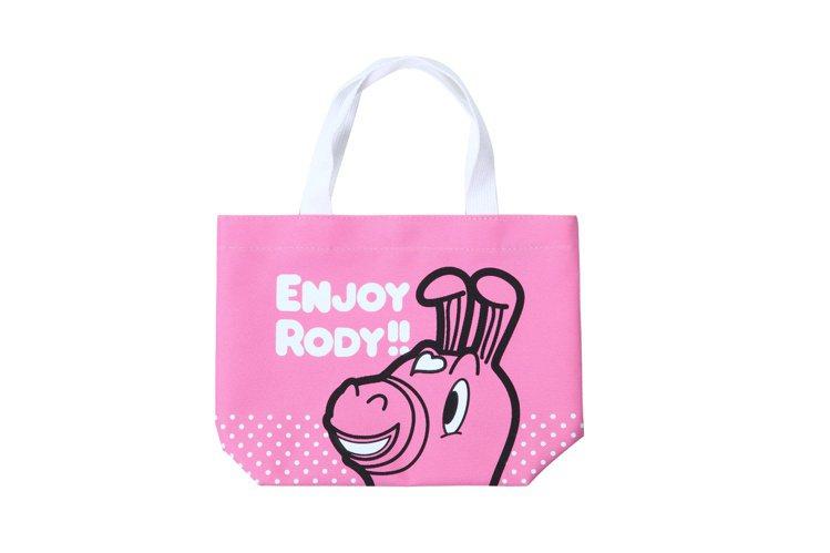 Hang Ten 限定Rody提袋(桃粉)。圖/Hang Ten提供