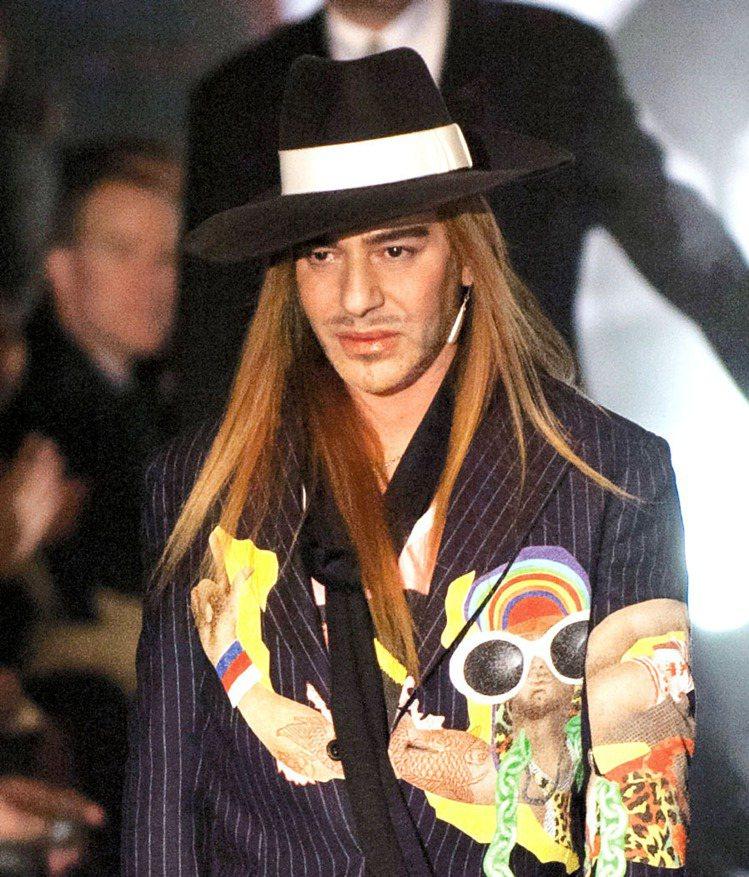 Galliano重返時尚,接下MMM總監。圖/歐新社