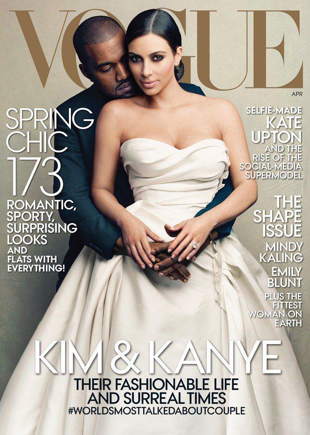 肯伊威斯特和金卡達夏登上Vogue雜誌封面,是風光的一年。圖/翻攝自Vogue雜...