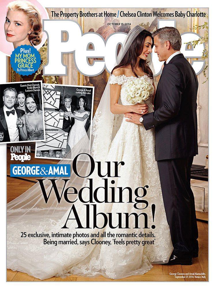 喬治庫隆尼的婚禮,是年度讓人印象深刻的時尚秀。圖/翻攝People封面