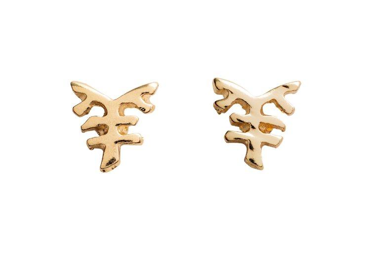 H&M新春系列耳環。圖/ H&M提供