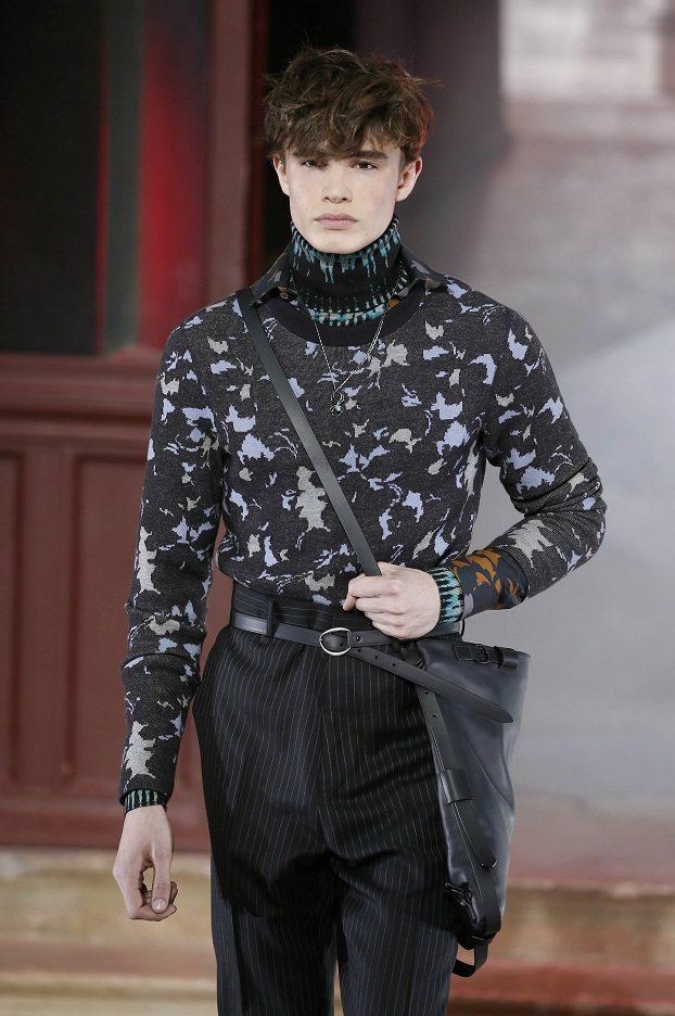 LANVIN男裝主題為「展現不同的自我」,充滿個人風格。圖/法新社