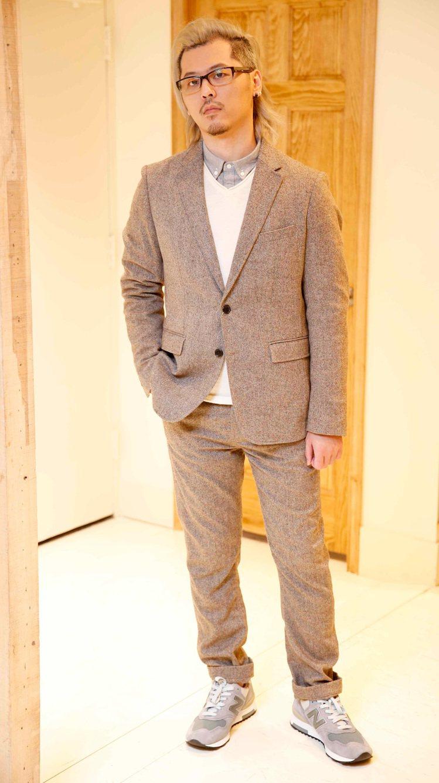 3. 米色混紡西裝外套。圖/GQ提供
