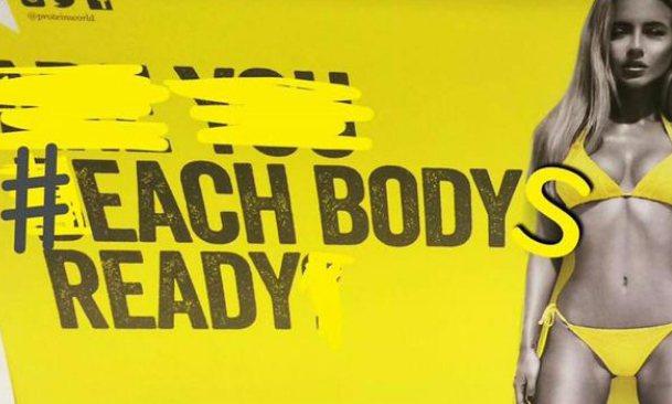 抗議人士將標語改成「each bodys ready」。圖/擷自telegrap...